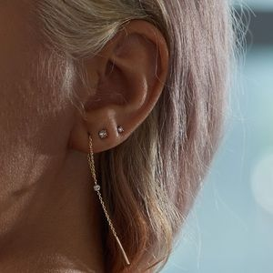Catbird • Diamond Greco Lariat 14k Gold Earring